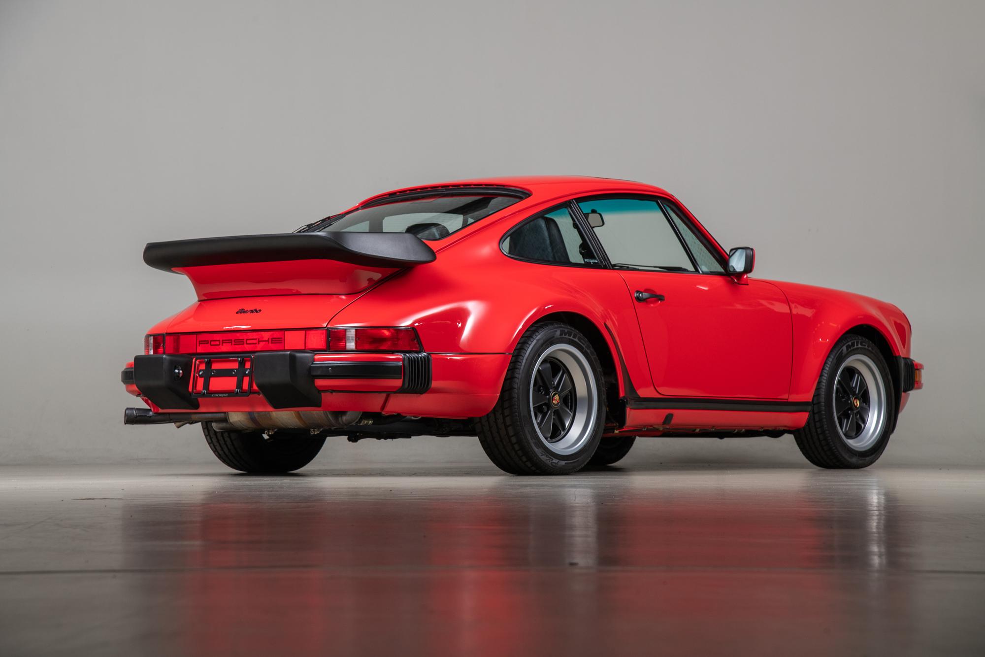 1988 Porsche 911 Turbo, RED, VIN WP0JB0933JS050456, MILEAGE 6747