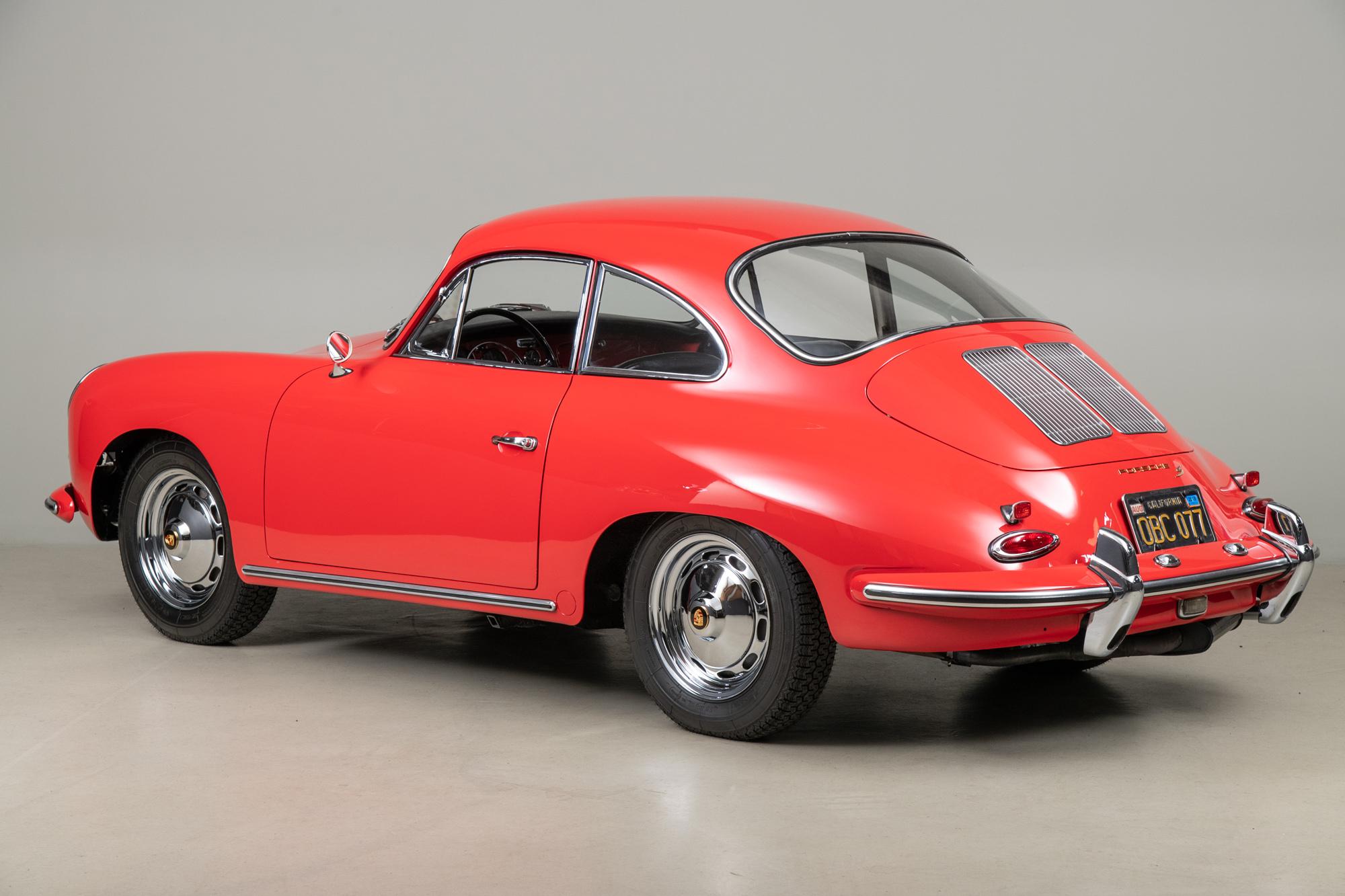 1962 Porsche 356B Coupe , RED, VIN 211240, MILEAGE 18740