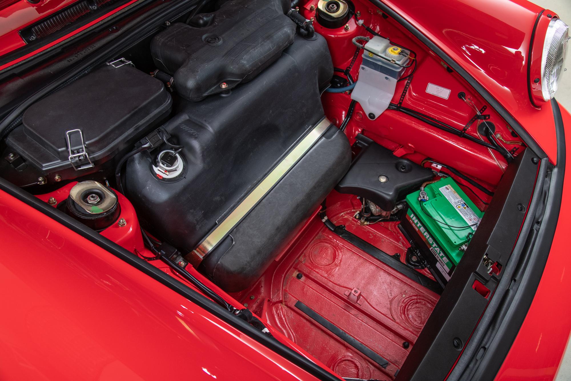 1993 Porsche 911 RS America, RED, VIN WP0AB2965PS419235, MILEAGE 19989
