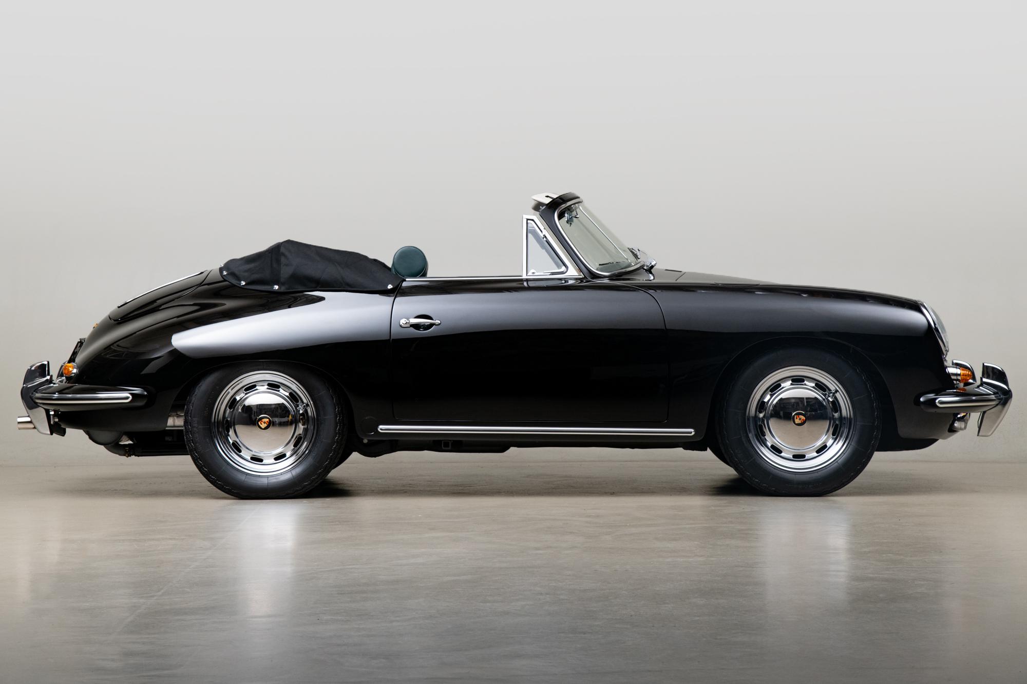 1965 Porsche 356SC Cabriolet , BLACK, VIN 161052, MILEAGE 98799
