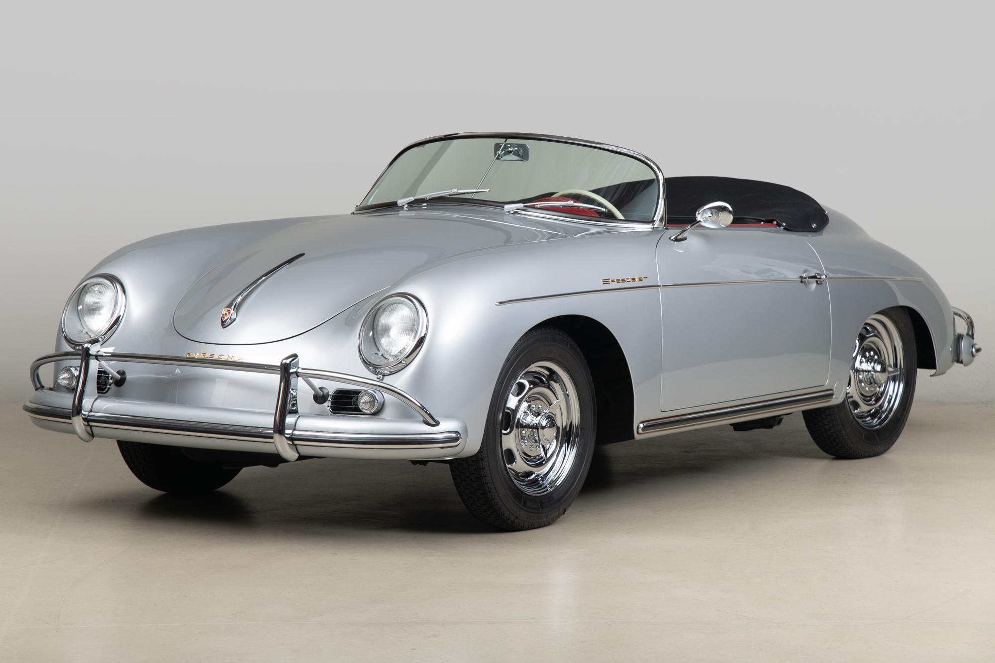 1958 Porsche 356 Speedster , SILVER, VIN 84219, MILEAGE 98291