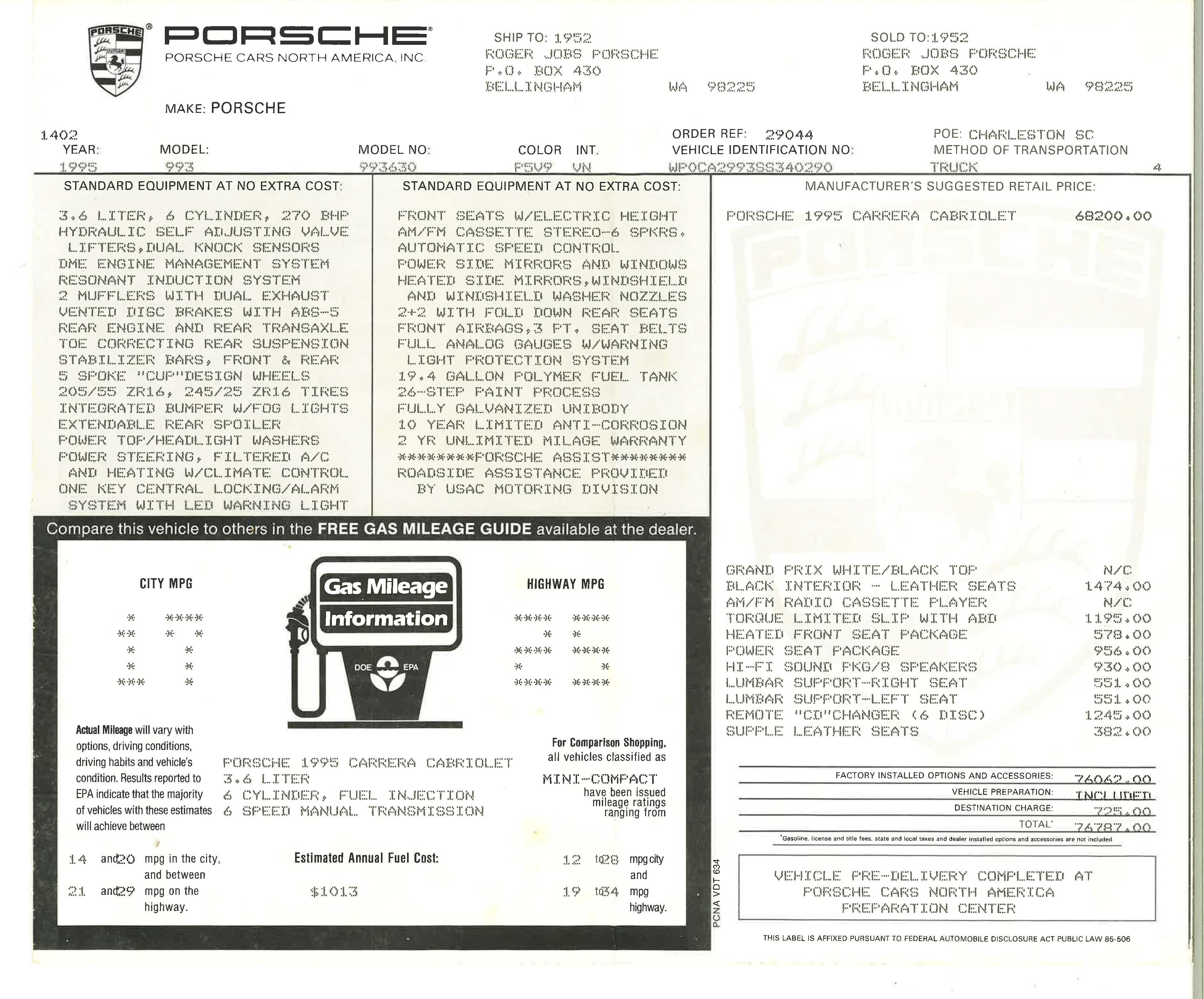 1995 Porsche 993 Cabriolet _6321