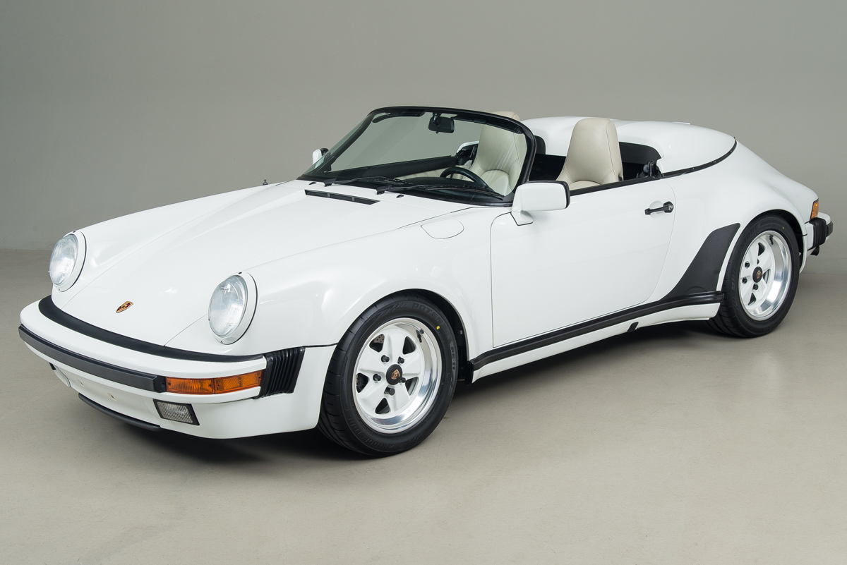 1989 Porsche 911 Speedster, GRAND PRIX WHITE, VIN WP0EB0917KS173310, MILEAGE 22675
