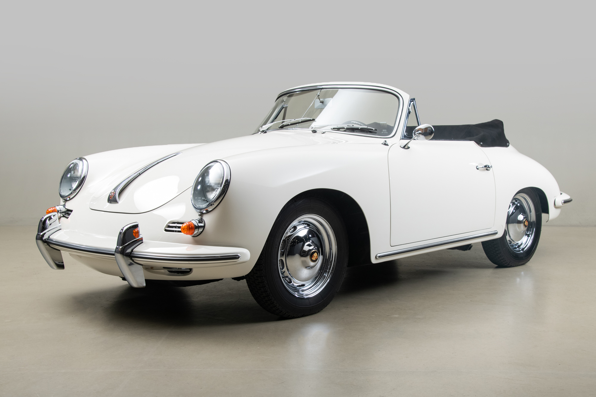 1963 Porsche 356 Cabriolet S , WHITE, VIN 158419, MILEAGE 7601