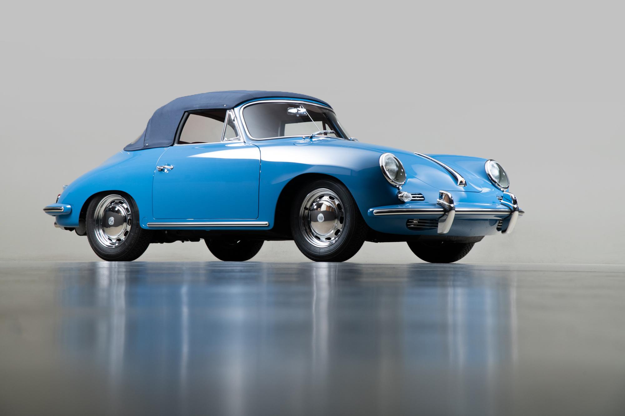 1964 Porsche 356 C Cabriolet , SKY BLUE, VIN 160104, MILEAGE 320