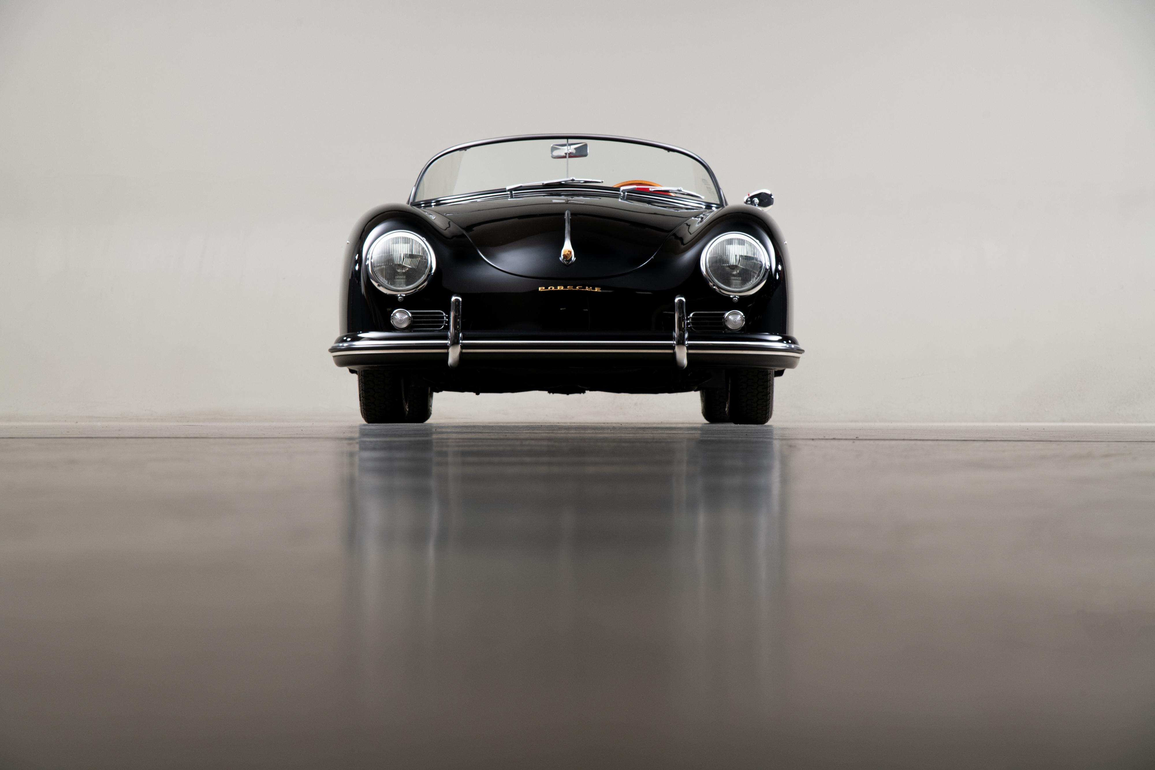 1957 Porsche 356 Speedster , BLACK, VIN 83411, MILEAGE 70084