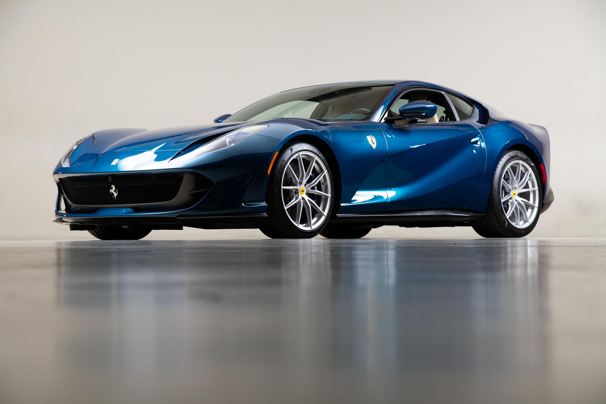 2020 Ferrari 812 , BLU ABU DHABI, VIN ZFF83CLA0L0250117, MILEAGE 2104