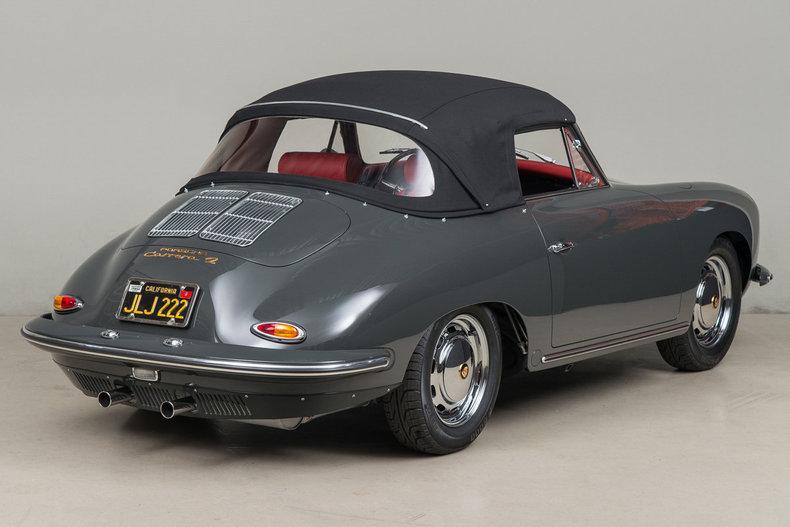1964 Porsche 356 Carrera 2 Cabriolet, SLATE GRAY, VIN 160232, MILEAGE 72244
