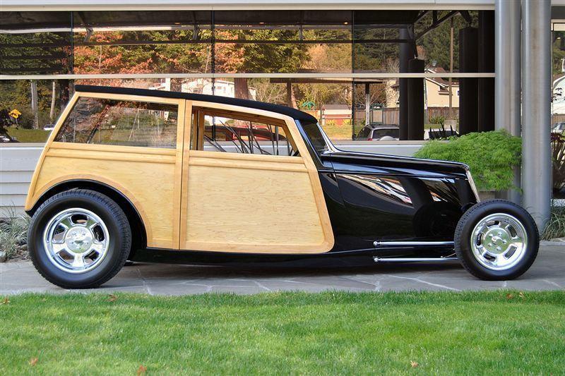 1933 Ford Woodie Coupe, BLACK, VIN AZ312284, MILEAGE 700