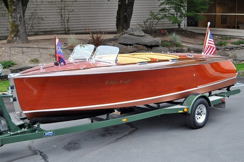 1940 Chris Craft 19′ Custom Runabout _4578