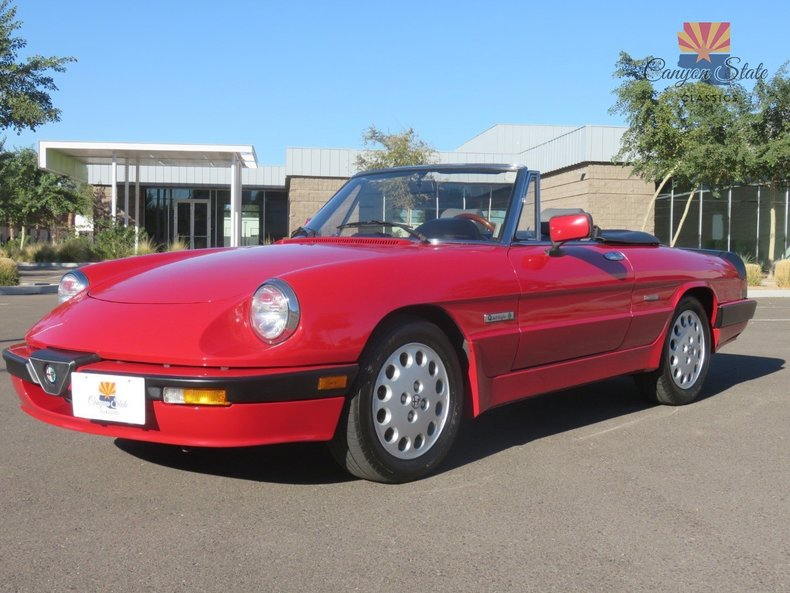 1989 alfa romeo spider 2dr convertible quadrifoglio for sale 69718 mcg. Black Bedroom Furniture Sets. Home Design Ideas