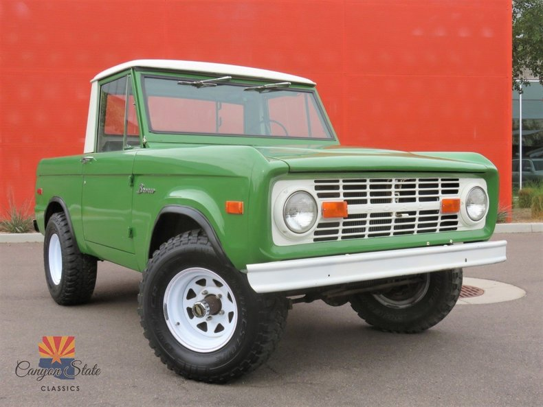 1970 ford bronco half cab for sale 80675 mcg. Black Bedroom Furniture Sets. Home Design Ideas