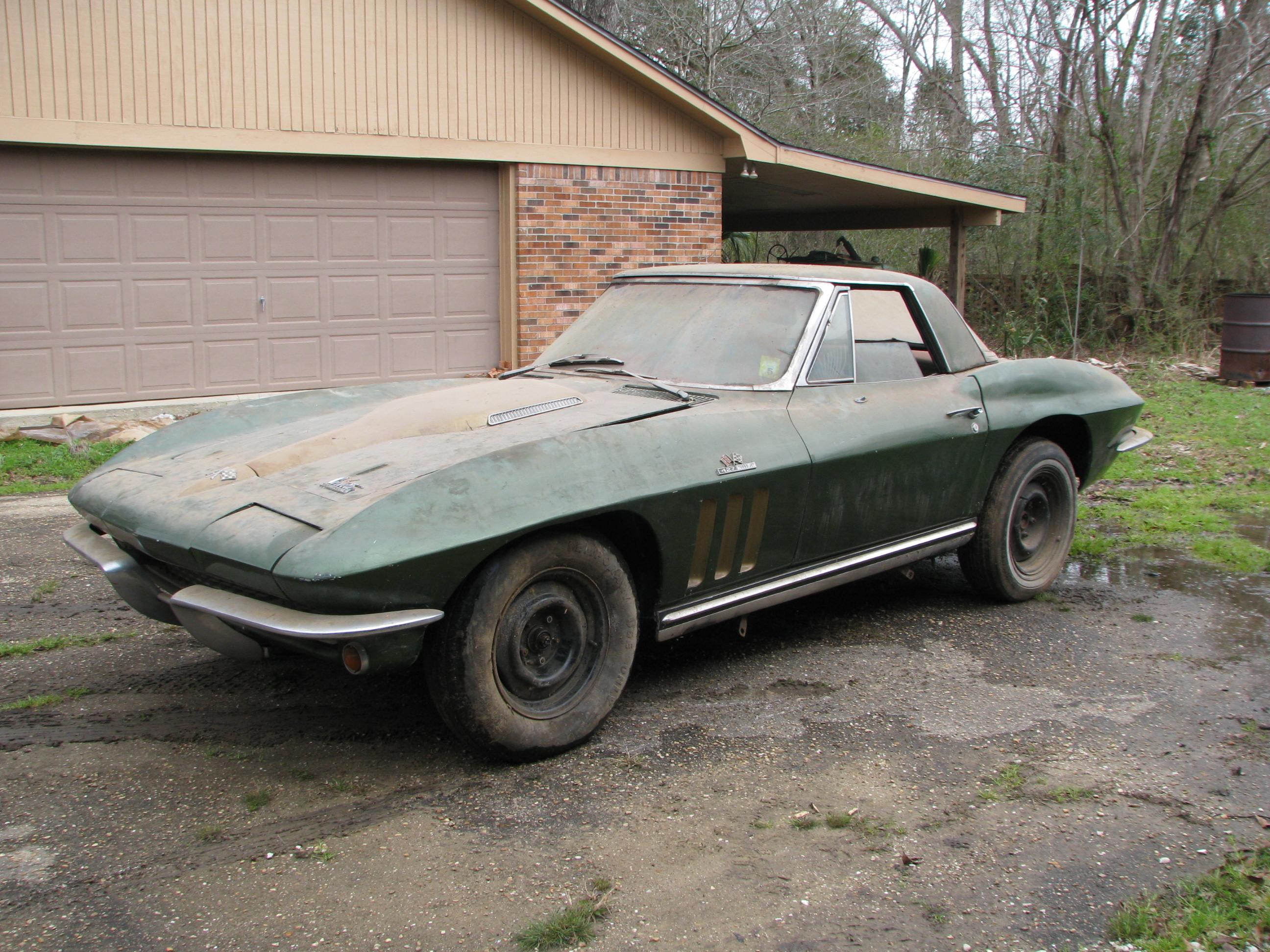 Search Cars: 1966 Corvette 427 Barn Find