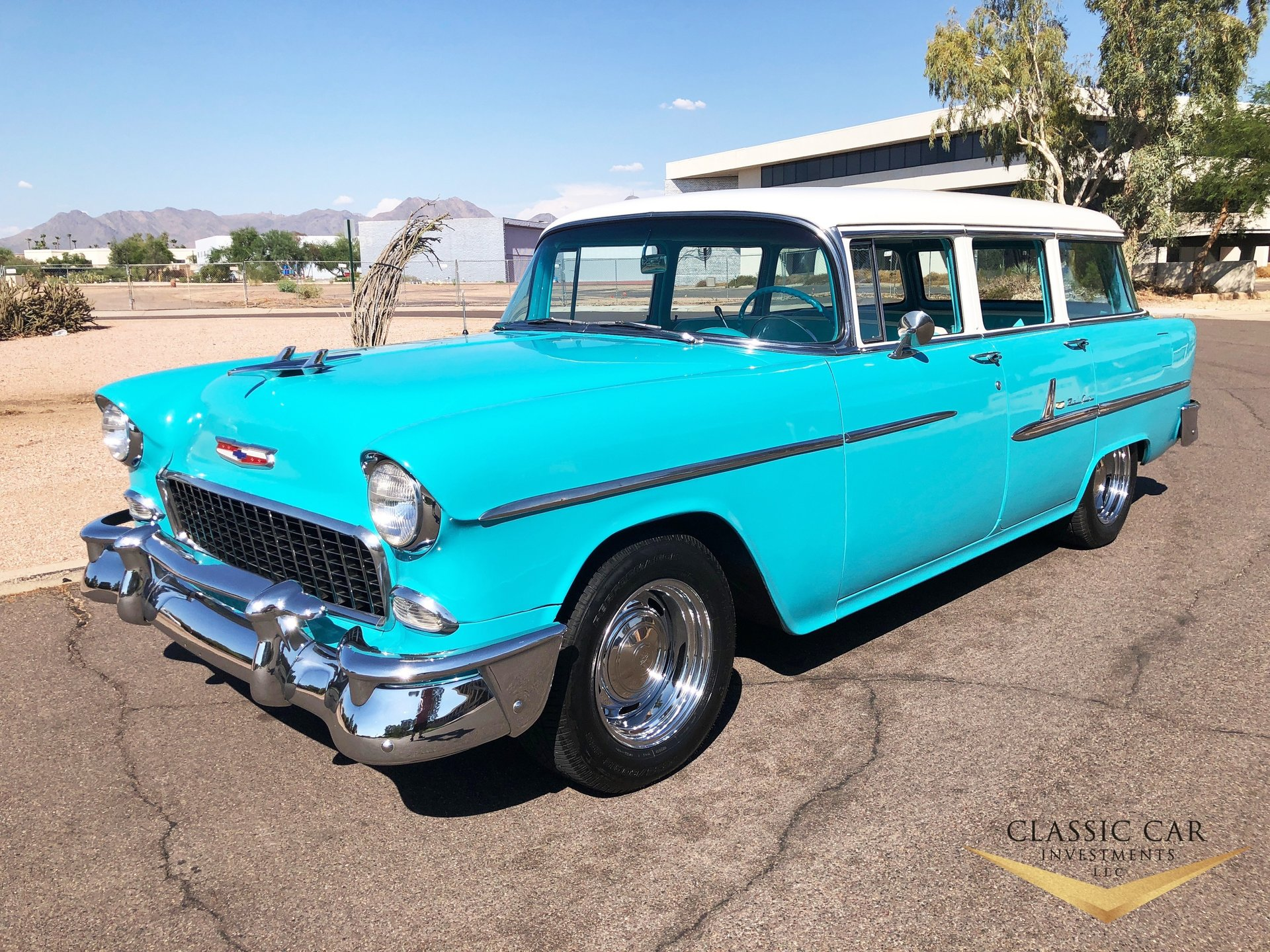 1955 Chevrolet Bel Air 4dr Station Wagon For Sale 95728 Mcg