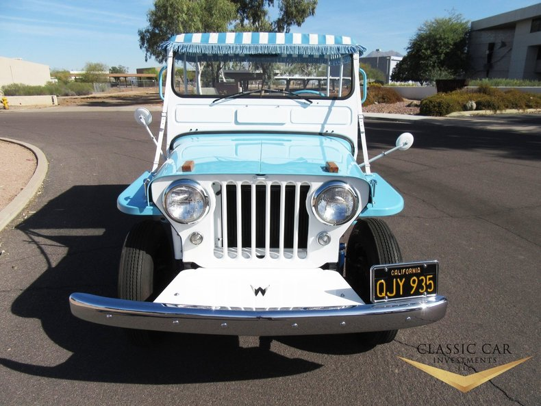 1960 Willys Jeep Surrey Gala: 1960 Willy's Surrey Gala Jeep - Super Rare CA Jeep - Stunning Restoration!