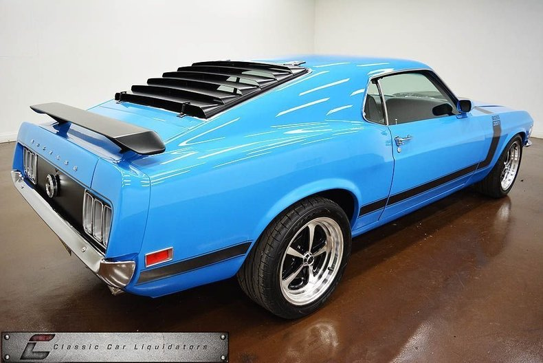 1970 Ford Mustang Fastback ProTouring: 1970 Ford Mustang Fastback ProTouring 10 Miles Grabber Blue  351W V8 Monster C6