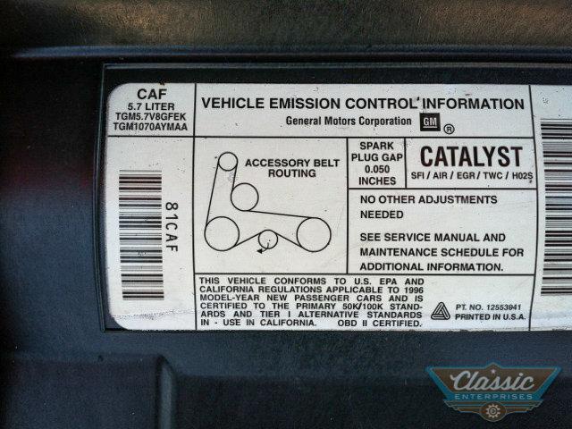 1996 1996 Chevrolet Camaro For Sale