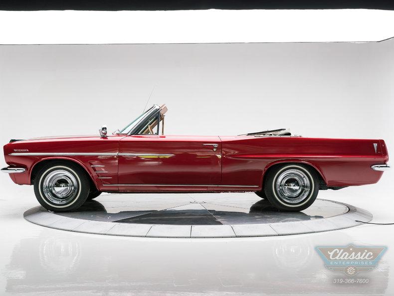 1963 Pontiac Lemans Convertible 4 Speed Marimba Red On Camel Tan Vinyl Used Pontiac Le Mans