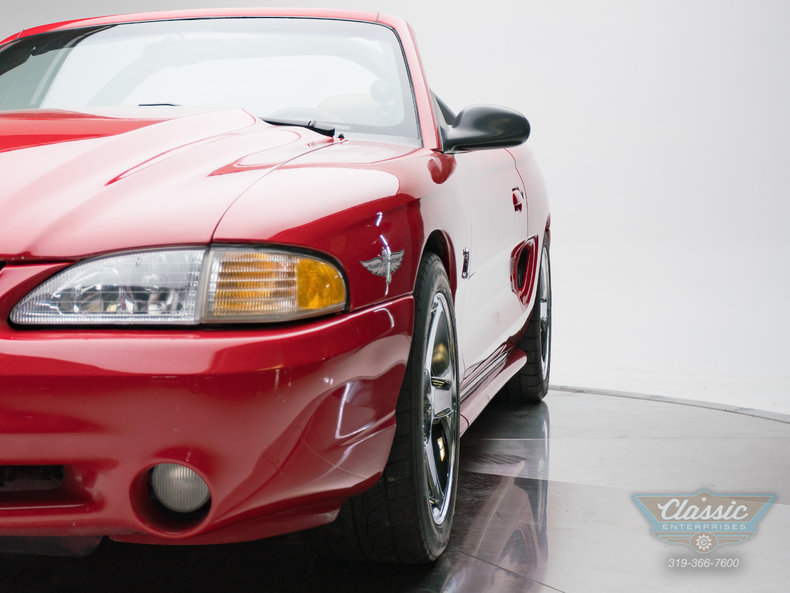 1994 Ford Mustang Pace Car Convertible: 1994 Ford Mustang SVT Cobra Pace Car Convertible 4.6 Liter 5 Speed Manual Conver