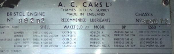 1957 1957 AC Bristol For Sale