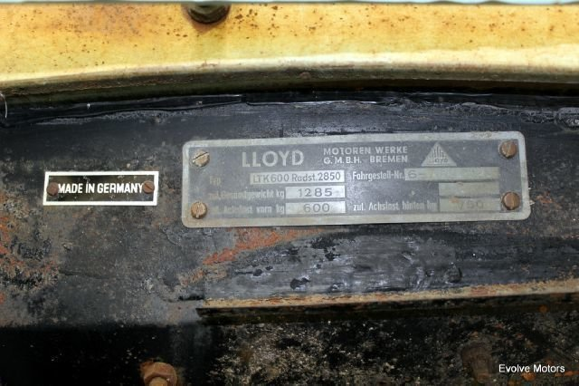 For Sale 1960 Lloyd LT 600