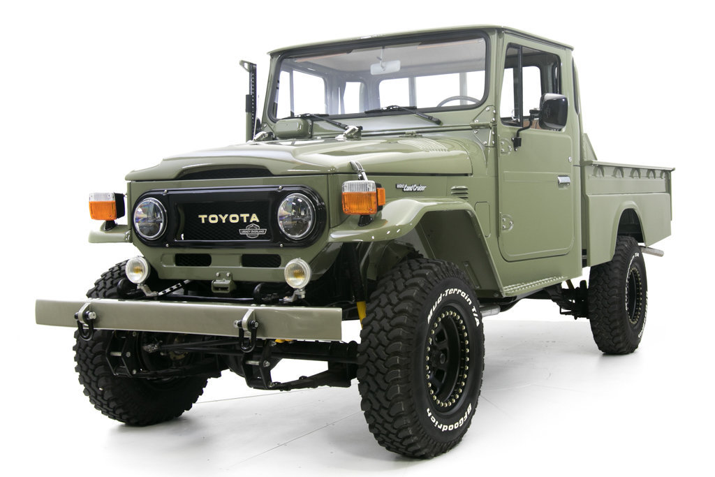 1978 toyota land cruiser hj 45 long bed pickup for sale. Black Bedroom Furniture Sets. Home Design Ideas