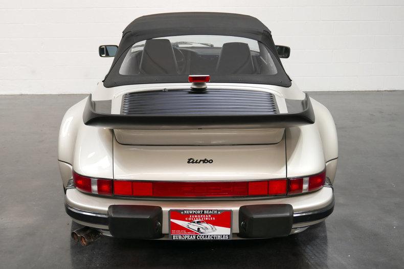 1989 porsche 911 turbo cabriolet for sale 79561 mcg. Black Bedroom Furniture Sets. Home Design Ideas
