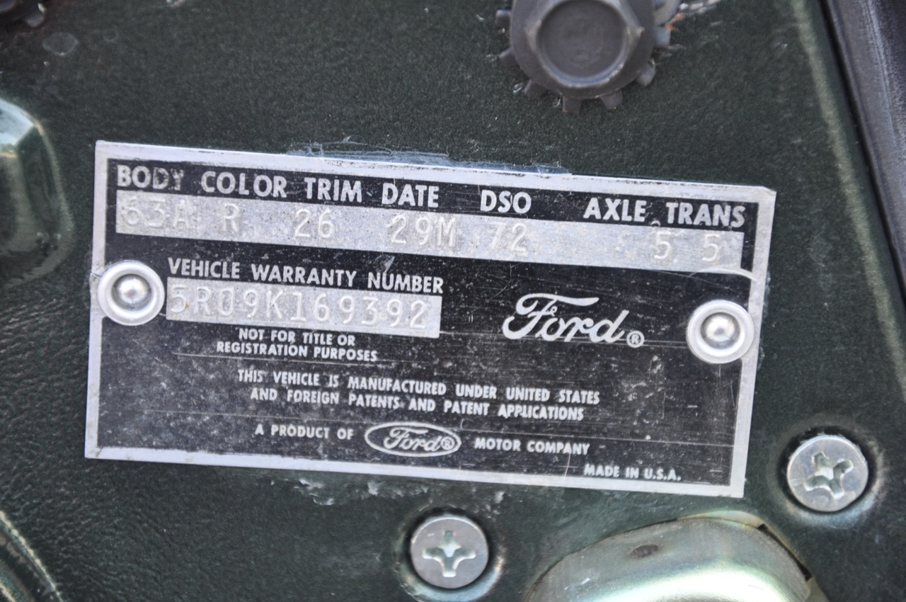 mustang 1965 ford fastback code