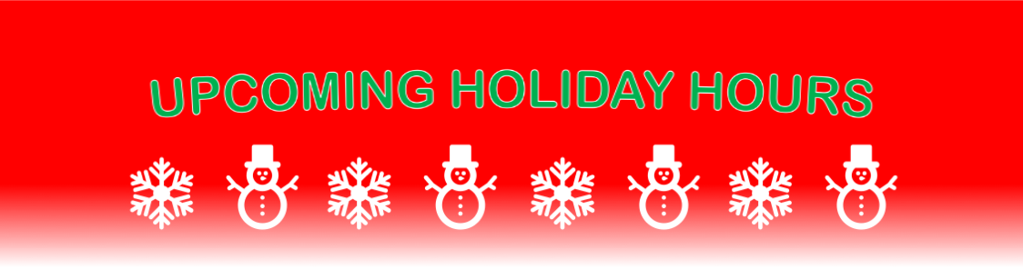 Ellingson Motorcars 2019 Holiday Hours Header