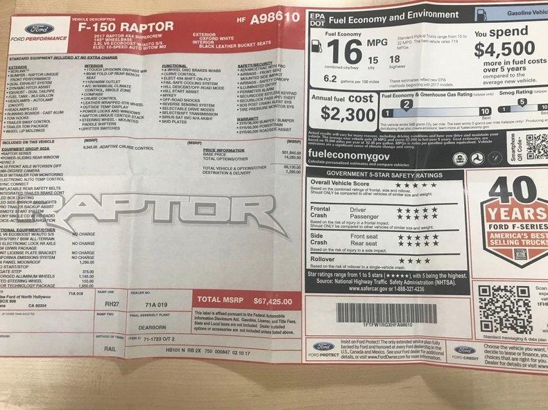 2017 Ford F-150 Raptor Supercrew