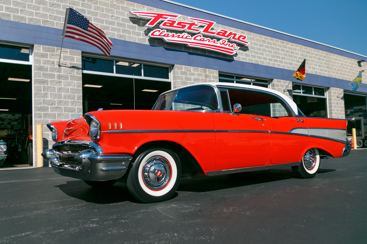 1957 Chevrolet Bel Air Fast Lane Classic Cars 1966 Rear View Sold Back