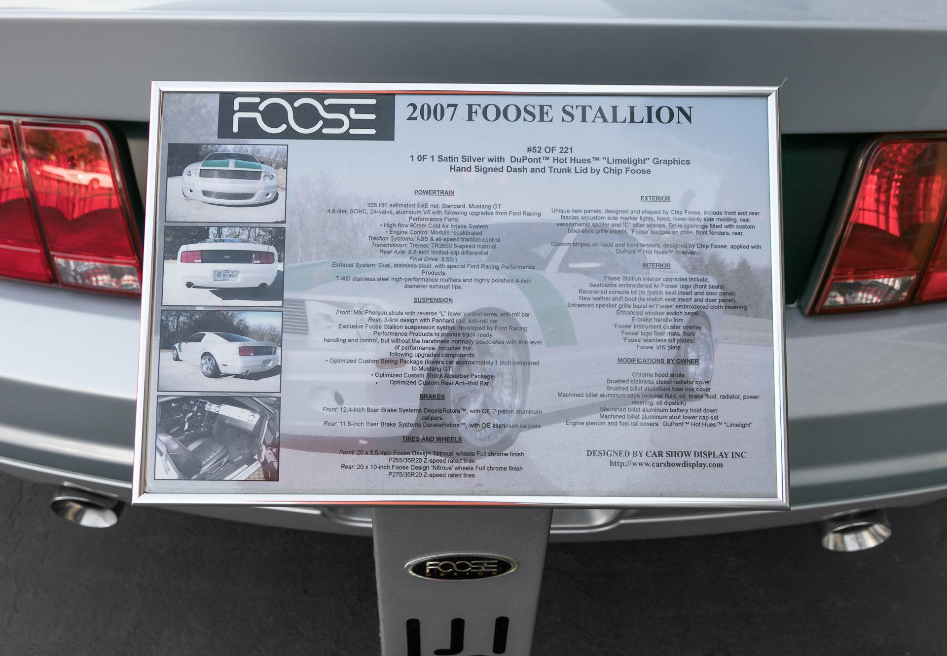 2007 Ford Mustang Foose Berlin Motors Fuse Box For Sale