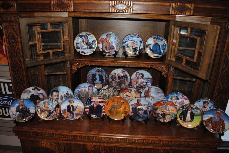 Unbelievable John Wayne Collector Plate Lot!