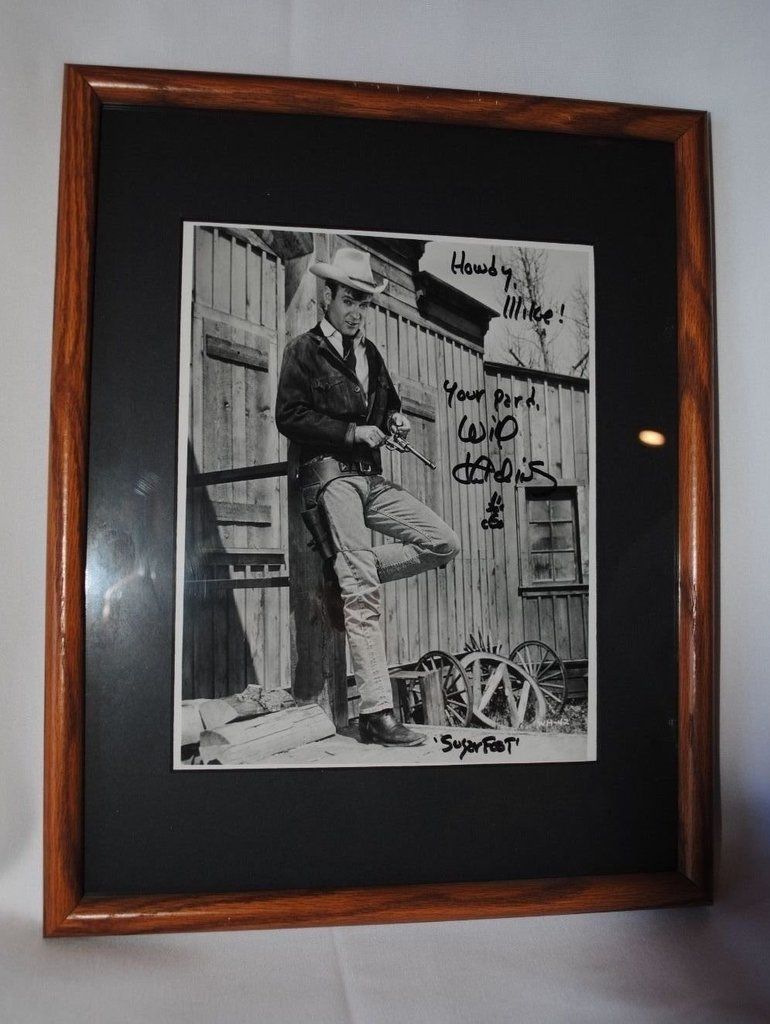 """Signed by """"Sugarfoot"""" star Will Hutchins!"""