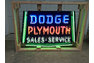 Dodge Plymouth Sales & Service Neon Sign