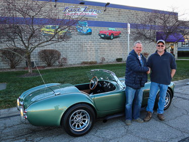 John and Lawrence with the Cobra John built