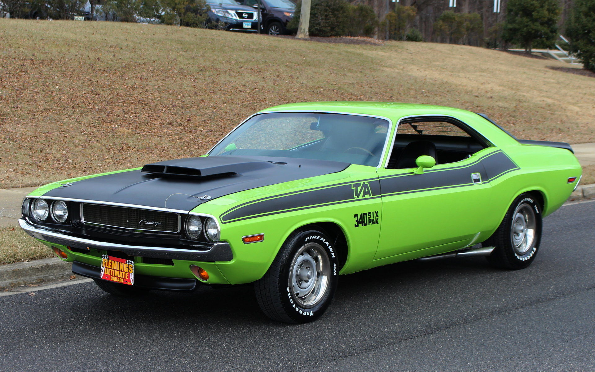 Plymouth Cuda  Six Pack T A Green Paint