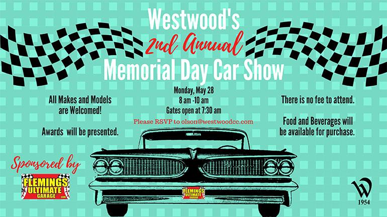Westwood Memorial Day Car Show at 8am Memorial day