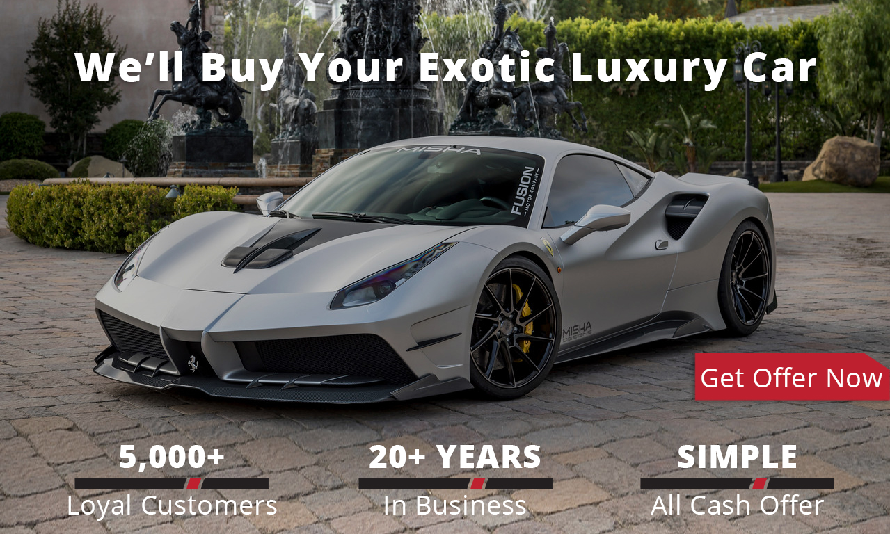 Sell us your classic, exotic or luxury car for cash