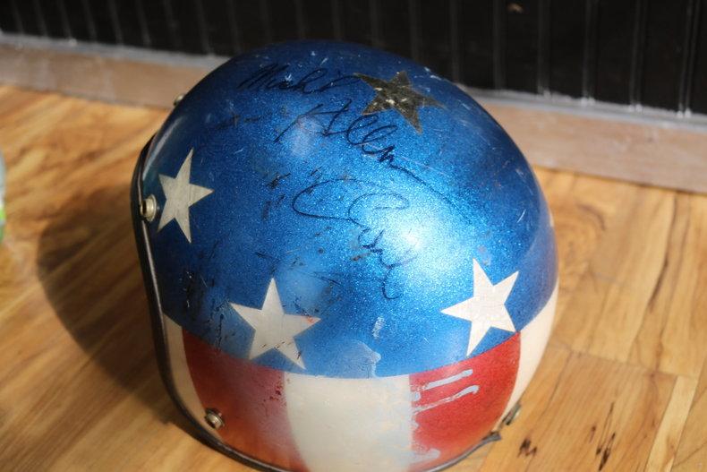 Evel Knievel Signed Helmet   GAA Classic Cars