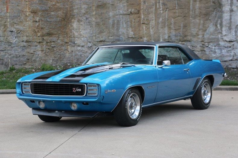 1969 chevrolet camaro z28 rs for sale 52442 mcg. Black Bedroom Furniture Sets. Home Design Ideas