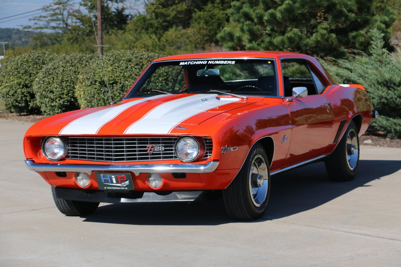 1969 chevrolet camaro z28 for sale 69825 mcg. Black Bedroom Furniture Sets. Home Design Ideas