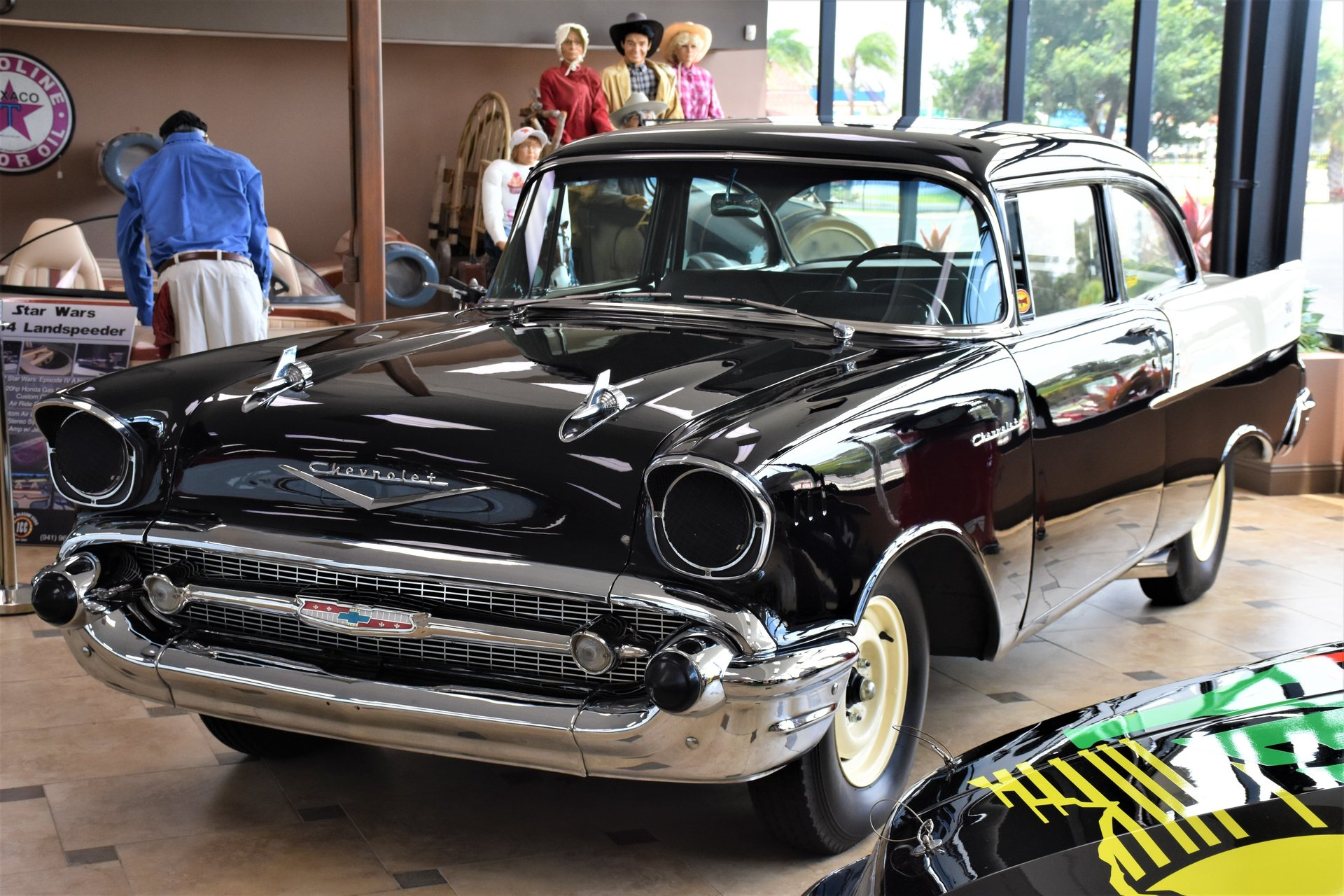 126308f329cf9 hd 1957 chevrolet 210 black widow