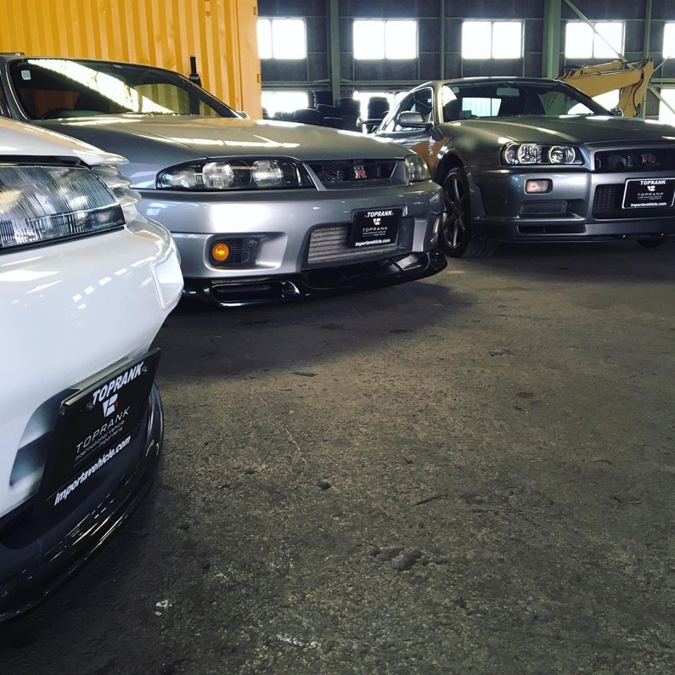 R32 GT-R, R33 GT-R, and R34 GT-R