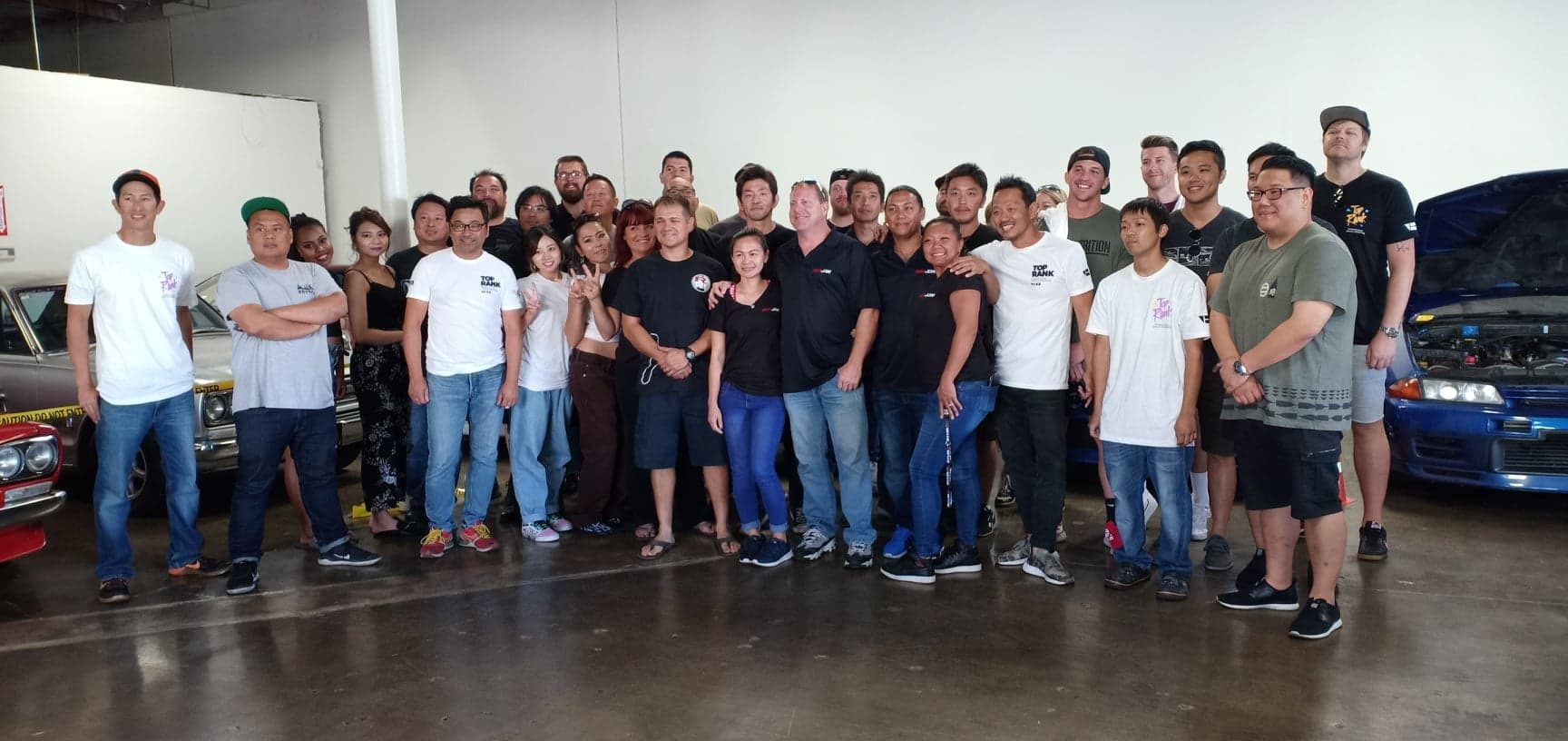 Group Shot Toprank Importers JDM Cars