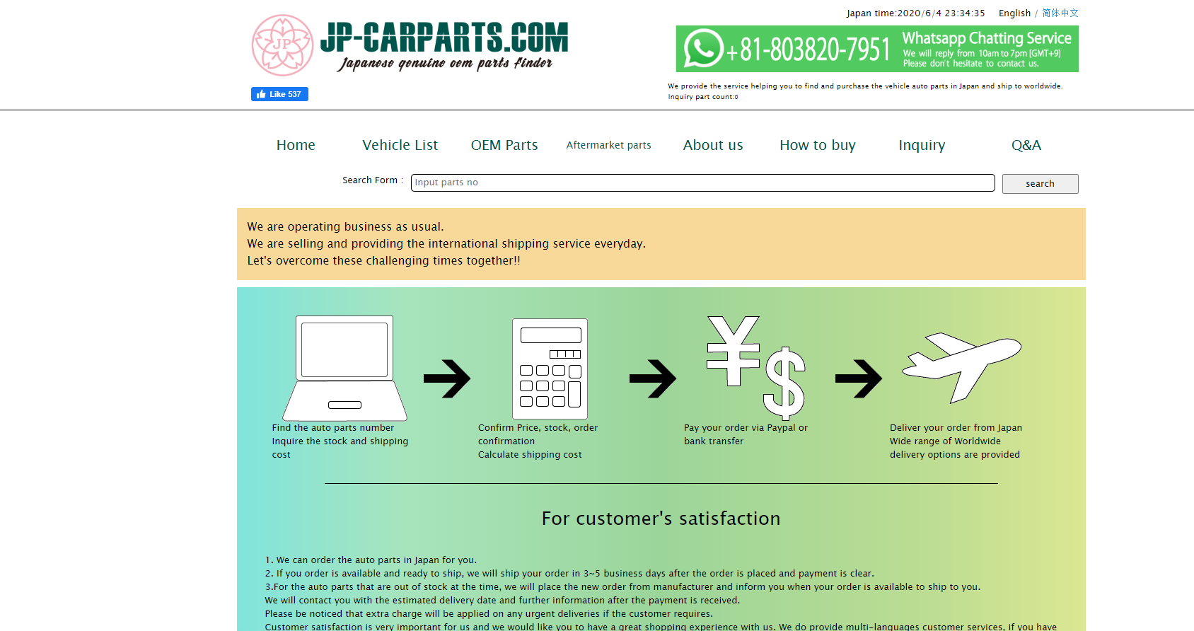 JP Carparts JDM car parts sold worldwide