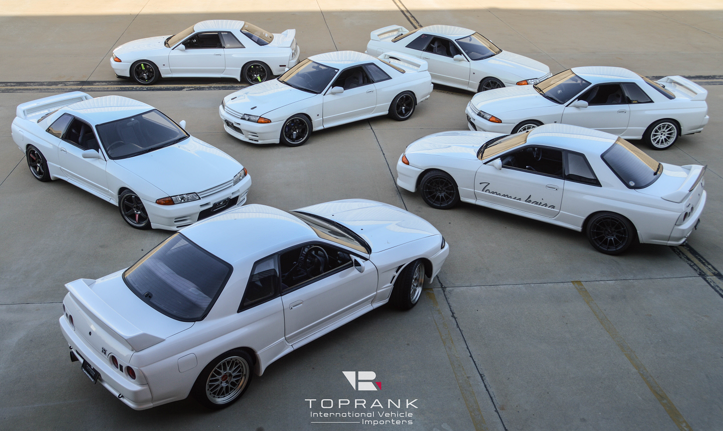 All white R32 GT-R from Toprank Importers