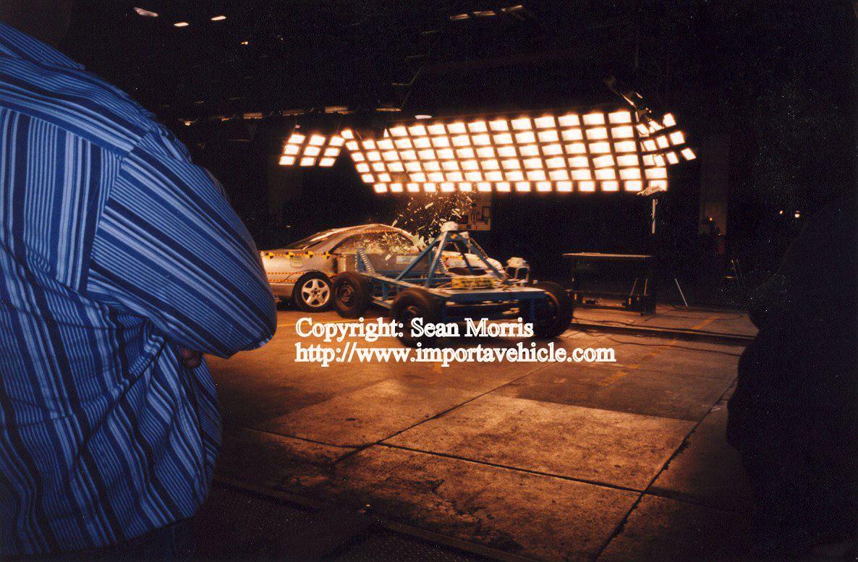 Crash testing R33 Skyline at MotoRex