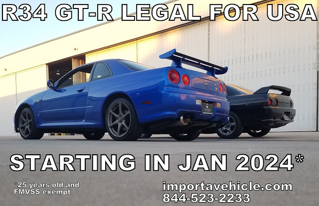 R34 GT-R legal for the US starting in 2024
