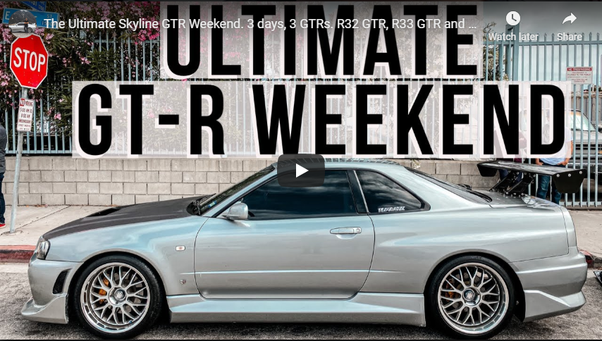 Ultimate GT-R weekend with R32, R33, and R34 GT-R at Toprank JDM Importers